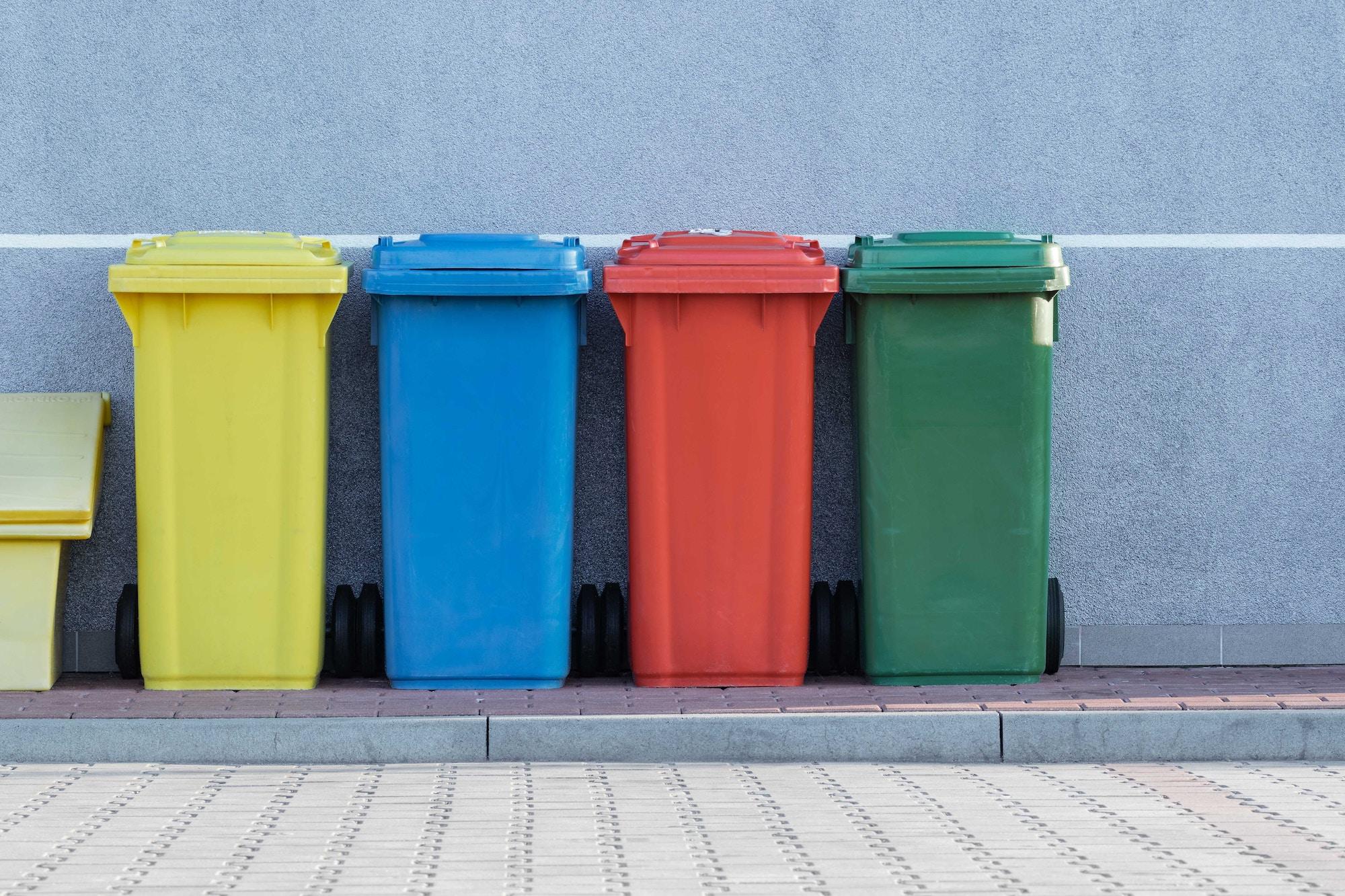 Mülleimer sauber halten